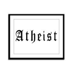 Atheist Framed Panel Print