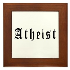 Atheist Framed Tile