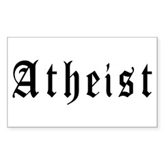 Atheist Rectangle Decal