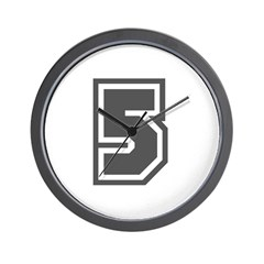 Number 5 Wall Clock