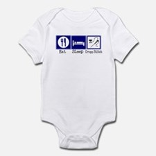Eat, Sleep, Cross Stitch Infant Bodysuit