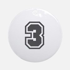 Number 3 Ornament (Round)