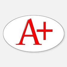Scarlet Letter Oval Decal
