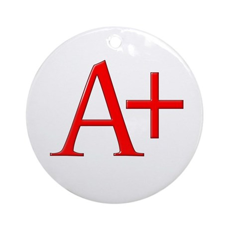 Scarlet Letter Ornament (Round)
