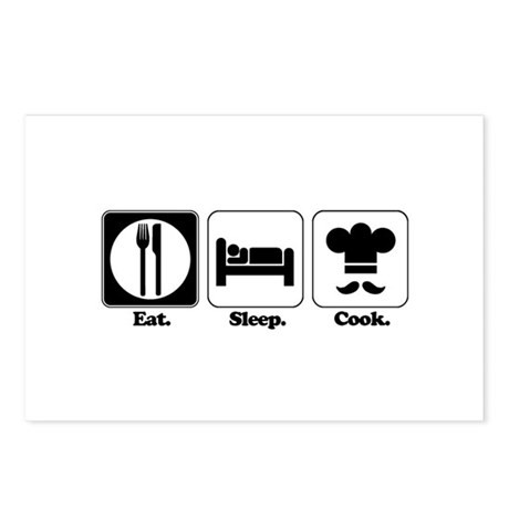Eat. Sleep. Cook. Postcards (Package of 8)