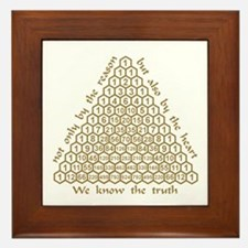 Pascal Quote Framed Tile