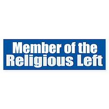 RELIGIOUS LEFT vinyl Bumper Bumper Sticker