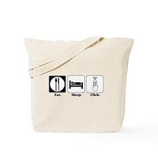 Eat. SLeep. CLick. (Remote Control) Tote Bag
