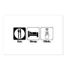 Eat. SLeep. CLick. (Remote Control) Postcards (Pac