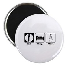 """Eat. SLeep. CLick. (Remote Control) 2.25"""" Magnet ("""