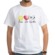 Peace, Love, Cross Stitch Shirt