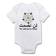 """We will not be silent"" Infant Bodysuit"