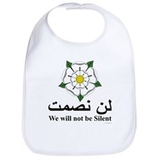 """We will not be silent"" Bib"