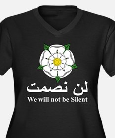 """We will not be silent"" Women's Plus Size V-Neck D"