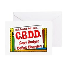 CBDD! (Red) Greeting Card