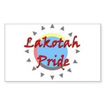 Lakotah Pride Sunburst Sticker (Rectangle 10 pk)