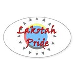 Lakotah Pride Sunburst Sticker (Oval 50 pk)
