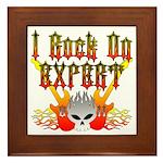 I Rock On Expert Framed Tile