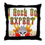 I Rock On Expert Throw Pillow