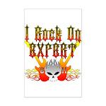 I Rock On Expert Mini Poster Print