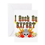 I Rock On Expert Greeting Card