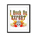 I Rock On Expert Framed Panel Print
