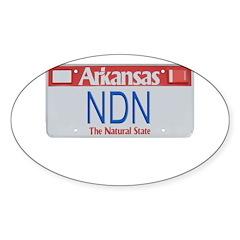 Arkansas NDN Oval Sticker (50 pk)