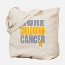 Cure Childhood Cancer Tote Bag