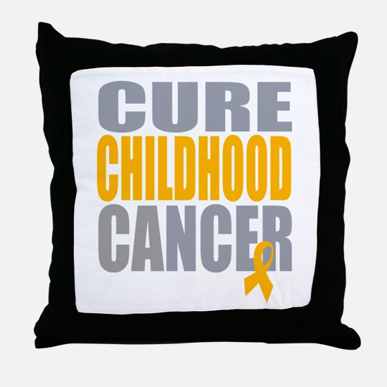 Cure Childhood Cancer Throw Pillow