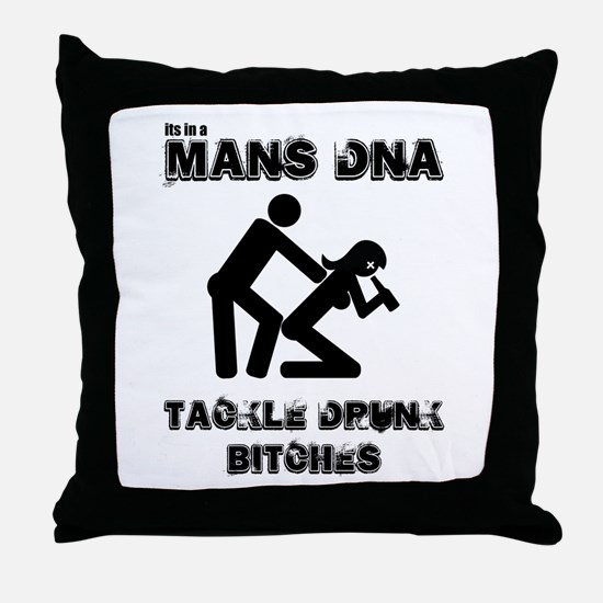 it's in a mans DNA, you must Throw Pillow