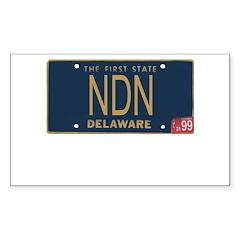 Delaware NDN Rectangle Sticker 10 pk)