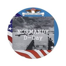 Normandy Americasbesthistory.com Ornament (Round)