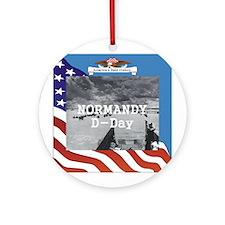 Normandy Americasbesthistory.com Ornament (Round)