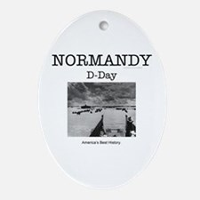 Normandy Americasbesthistory.com Oval Ornament