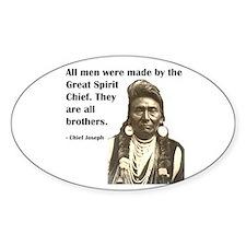 Brotherhood Quote Oval Sticker (10 pk)