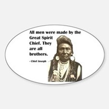 Brotherhood Quote Oval Sticker (10 pk)
