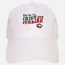 Kiss Me I'm Irish and Italian Baseball Baseball Cap