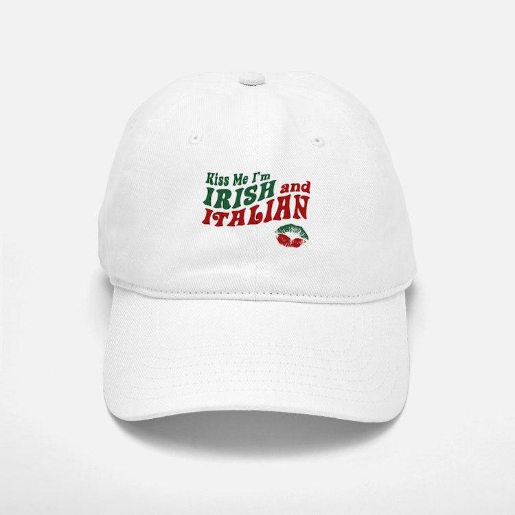 Kiss Me I'm Irish and Italian Baseball Baseball Cap