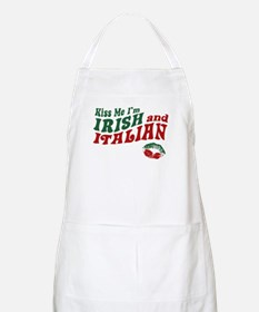 Kiss Me I'm Irish and Italian BBQ Apron