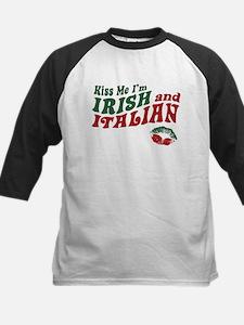 Kiss Me I'm Irish and Italian Kids Baseball Jersey