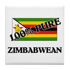 100 Percent ZIMBABWEAN Tile Coaster