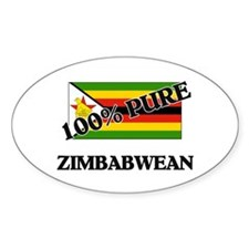 100 Percent ZIMBABWEAN Oval Decal