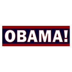 Obama! Red and Blue Bumper Bumper Sticker