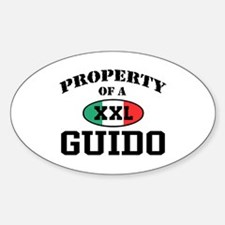 Property of a Guido Oval Decal