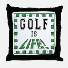 Golf Is Life Throw Pillow