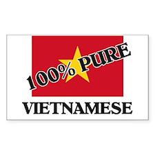 100 Percent VIETNAMESE Rectangle Decal