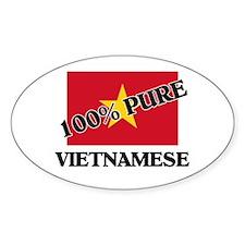 100 Percent VIETNAMESE Oval Decal