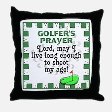 Golfer's Prayer Throw Pillow
