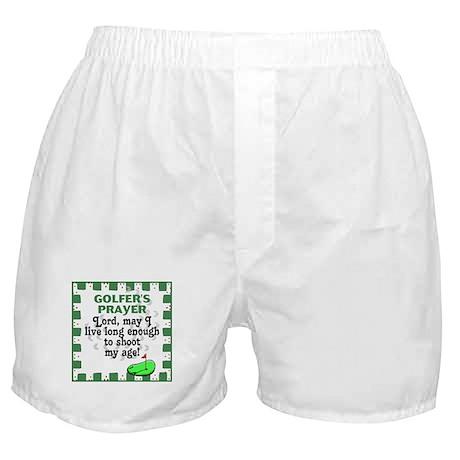 Golfer's Prayer Boxer Shorts