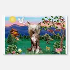 Pagoda/Chinese Crested Rectangle Decal